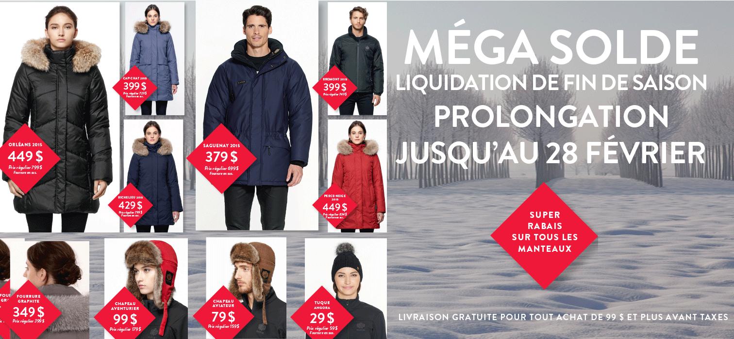 Manteau d'hiver pour femme liquidation