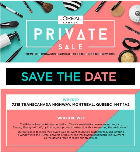 285916a4d0af5 Montrealaubaine.ca - L ORÉAL warehouse sale 2019
