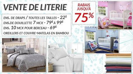 Montrealaubaine Ca Vente De Literie Jusqu A 75