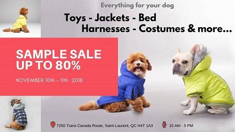 1782d3b27fea Montrealaubaine.ca - Silver Paw Dog Apparel Sample Sale