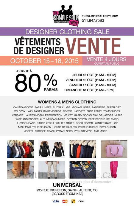 Montrealaubaine ca - Warehouse sale Michael Kors, Versace